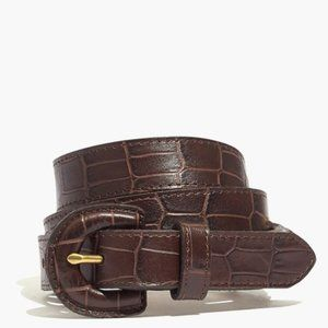 Madewell Wrapped-Buckle Belt in Croc sz M